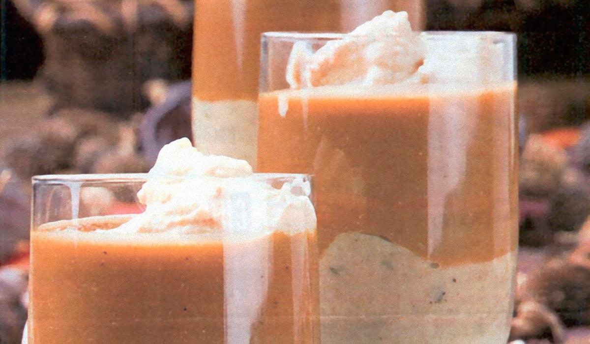 Mousse de lentejas pardinas con crema de boletus